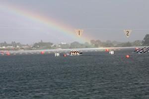 ゴールに虹