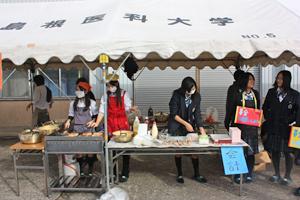 JRC部 農業祭でのお好み焼き販売と募金活動
