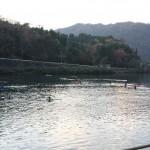 水上練習の様子