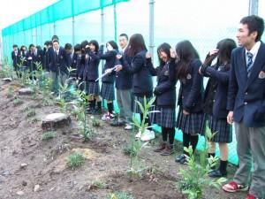 記念植樹の様子