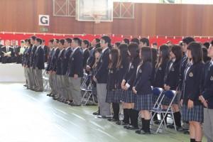 記念式典での生徒の様子