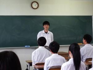 生徒会長のあいさつ