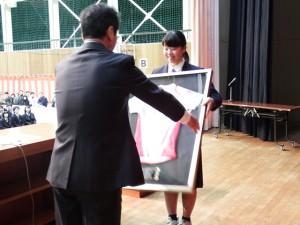 日本代表ユニホームの寄贈