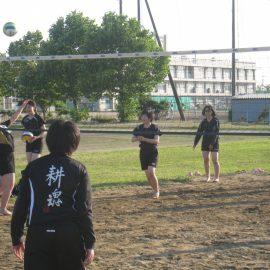 【女子バレー部】 ビーチバレーの練習始まりました!