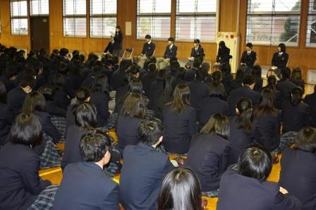 3年生の合格体験を聞く会の実施!!