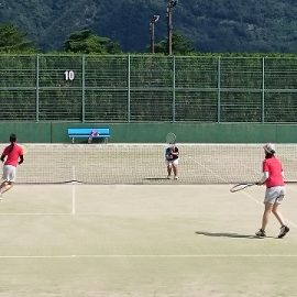 【ソフトテニス部】合同練習会に参加してきました