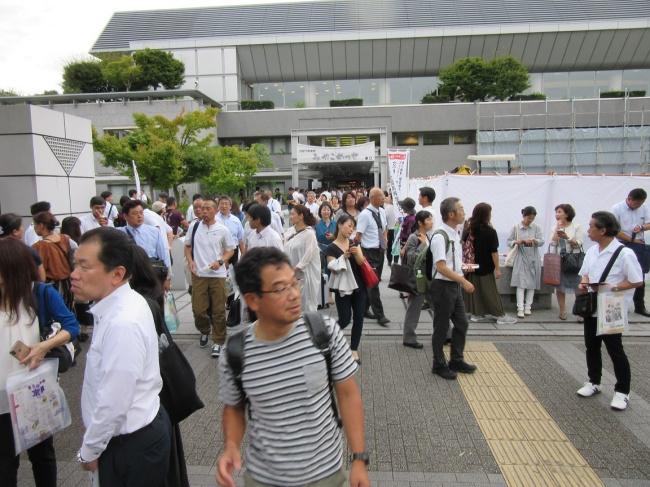 8月23日(金)京都市勧業館みやこめっせ会場出口の様子