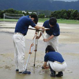 【環境科学科】平板測量競技 校内大会