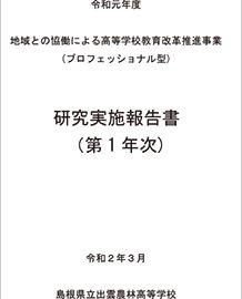 令和元年度 研究実施報告書