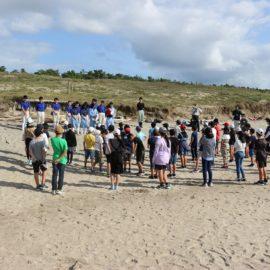 【植物バイオ】地域の方々と長浜海岸にハマボウフウを植え付けました!
