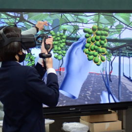【食品科学科】VR学習システム体験会を開催しました