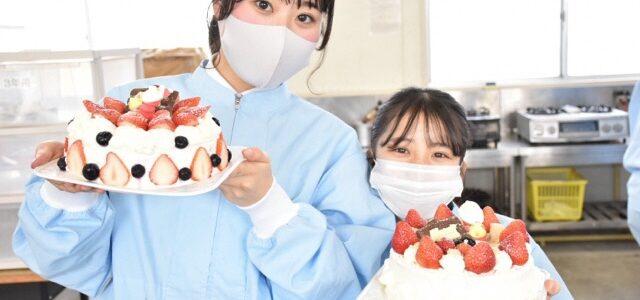 【食品科学科】3年生クリスマスケーキ実習 その2