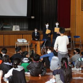 【植物バイオ】長浜小学校においてハマボウフウ成果発表会を行いました!