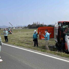 【植物科学科】スマート農業機械活用研修会を実施しました。