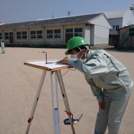 【環境科学科2年生】平板測量競技の実習