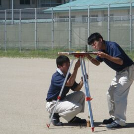 【農業クラブ】平板測量競技県大会に出場しました