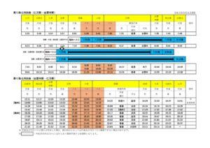 【改訂版】乗り換え時刻表(仁万ー出雲市)R030906のサムネイル